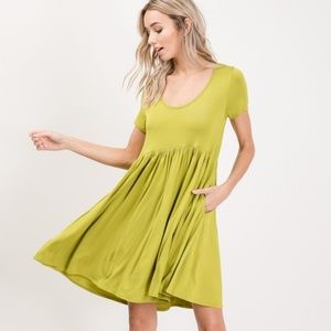 Grass green muse dress